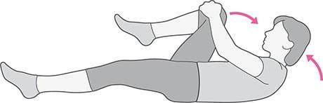 بالا کشیدن زانو برای درد آرتروز لگن