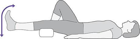 تمرین قوس کوتاه برای عضلات چهار سر برای درد آرتروز لگن