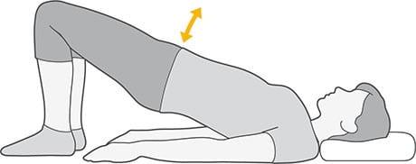 حرکت پل برای درد آرتروز لگن