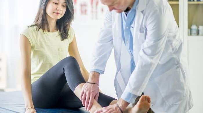 شکستگی ساق پا با فیزیوتراپی